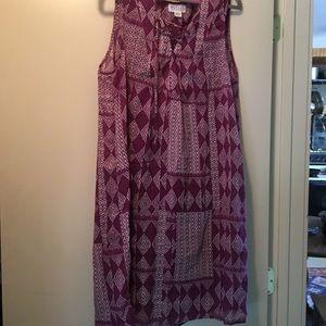 Velvet Purple Dress, size medium